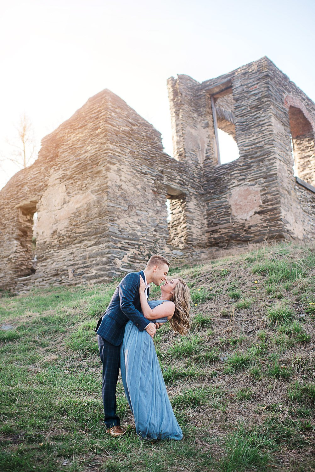 Engagement Session in Historic Ruins Virginia