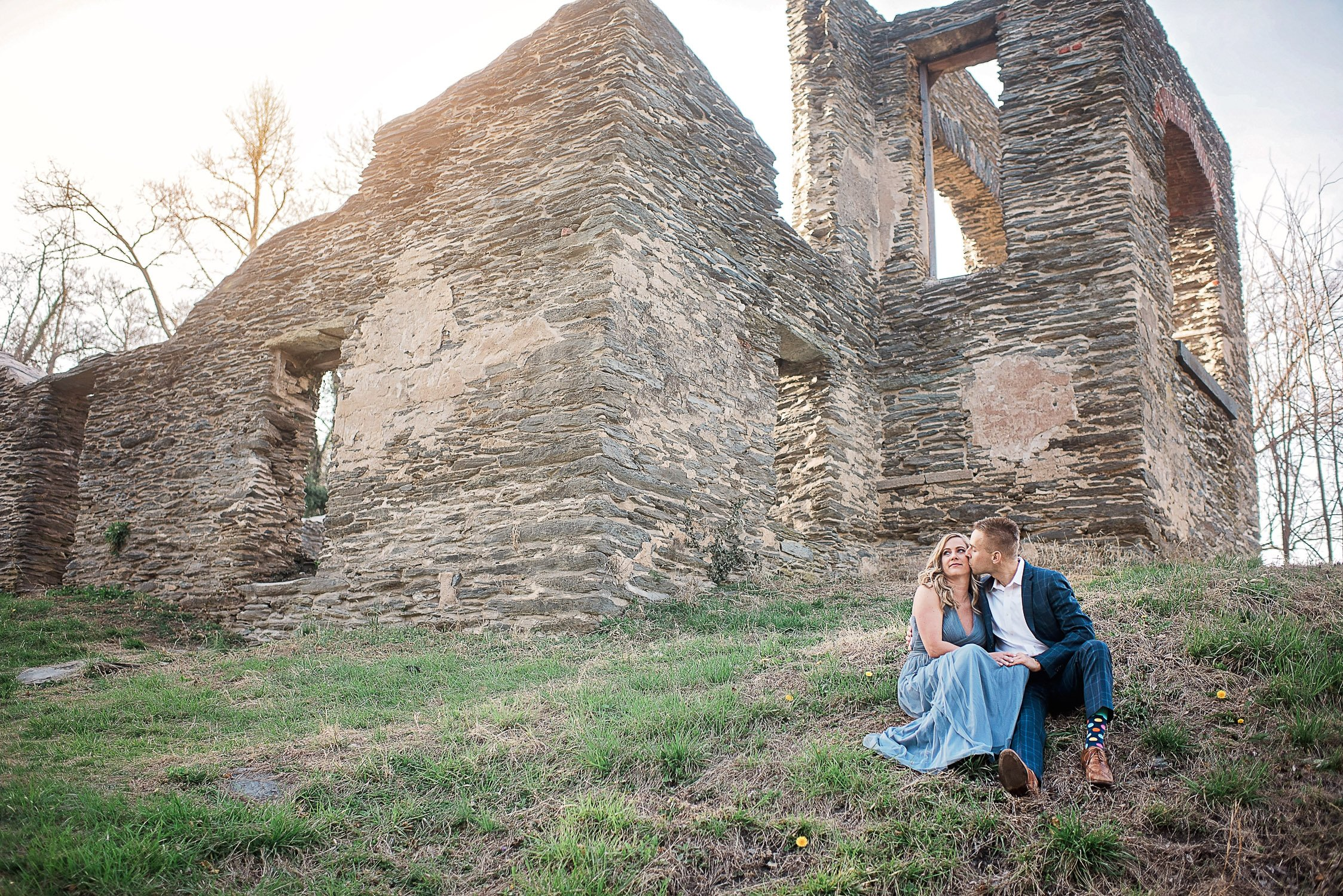 Engagement Session in Historic Ruins Virginia-22