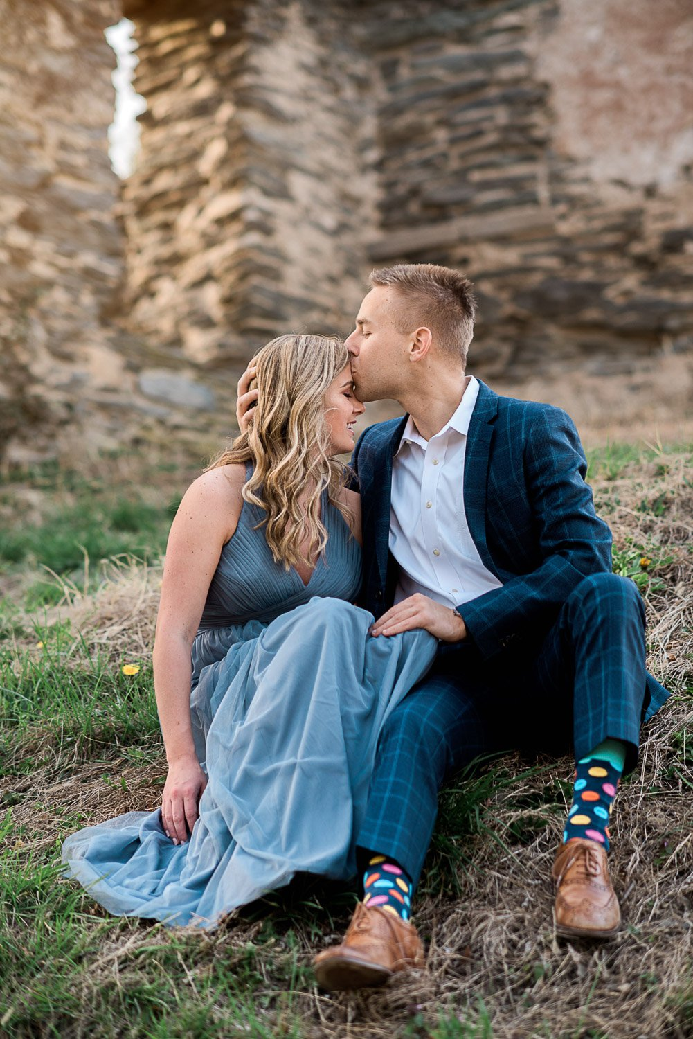 Engagement Session in Historic Ruins Virginia-23