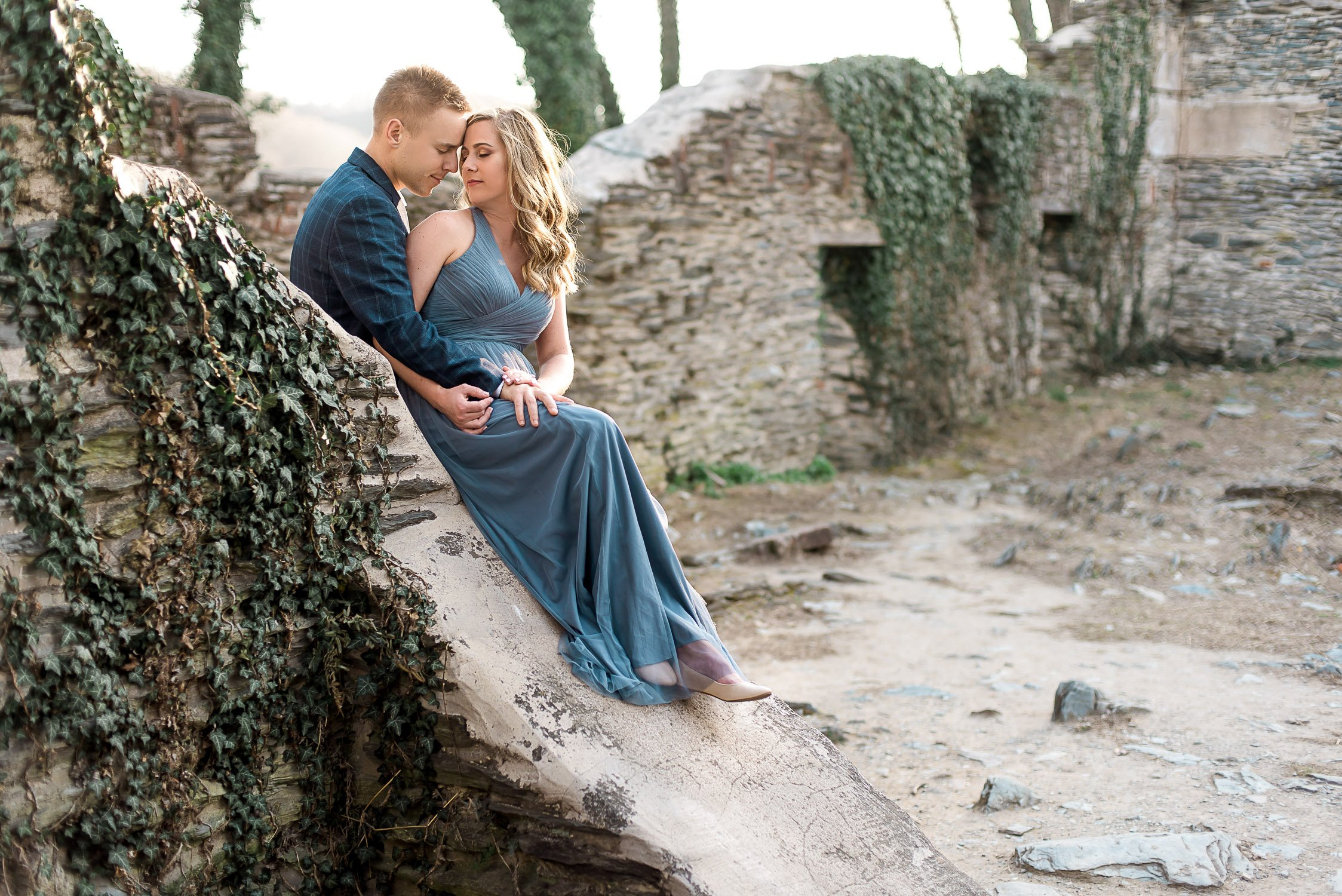 Engagement Session in Historic Ruins Virginia-27