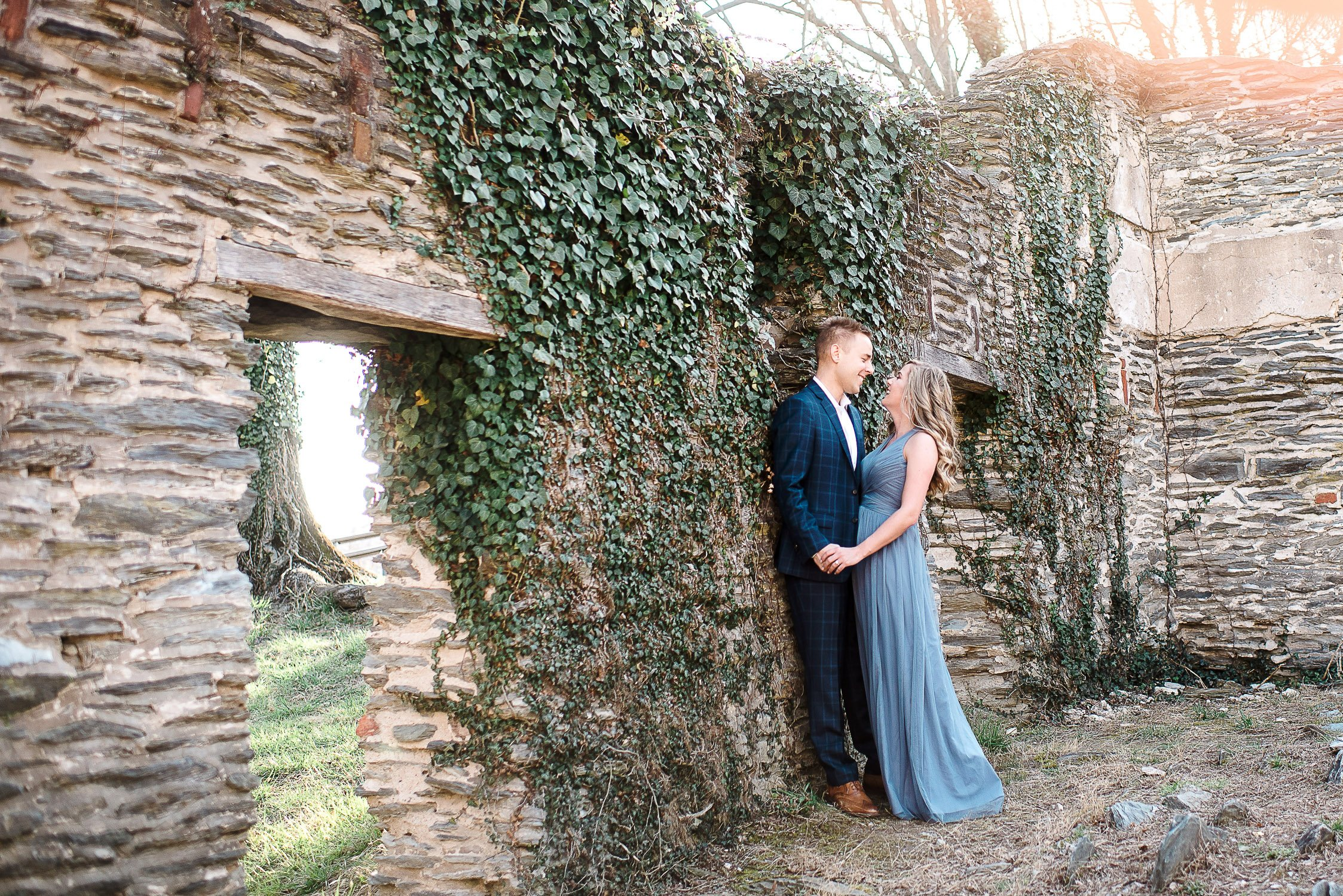 Engagement Session in Historic Ruins Virginia-3