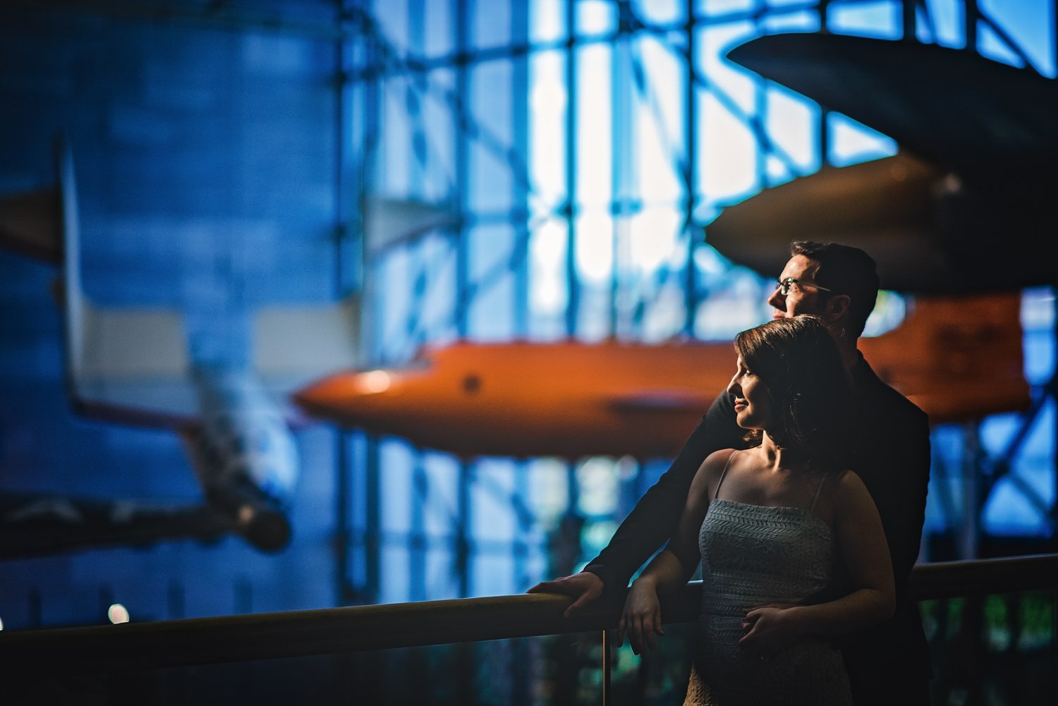 Air and Space Museum Engagement Session