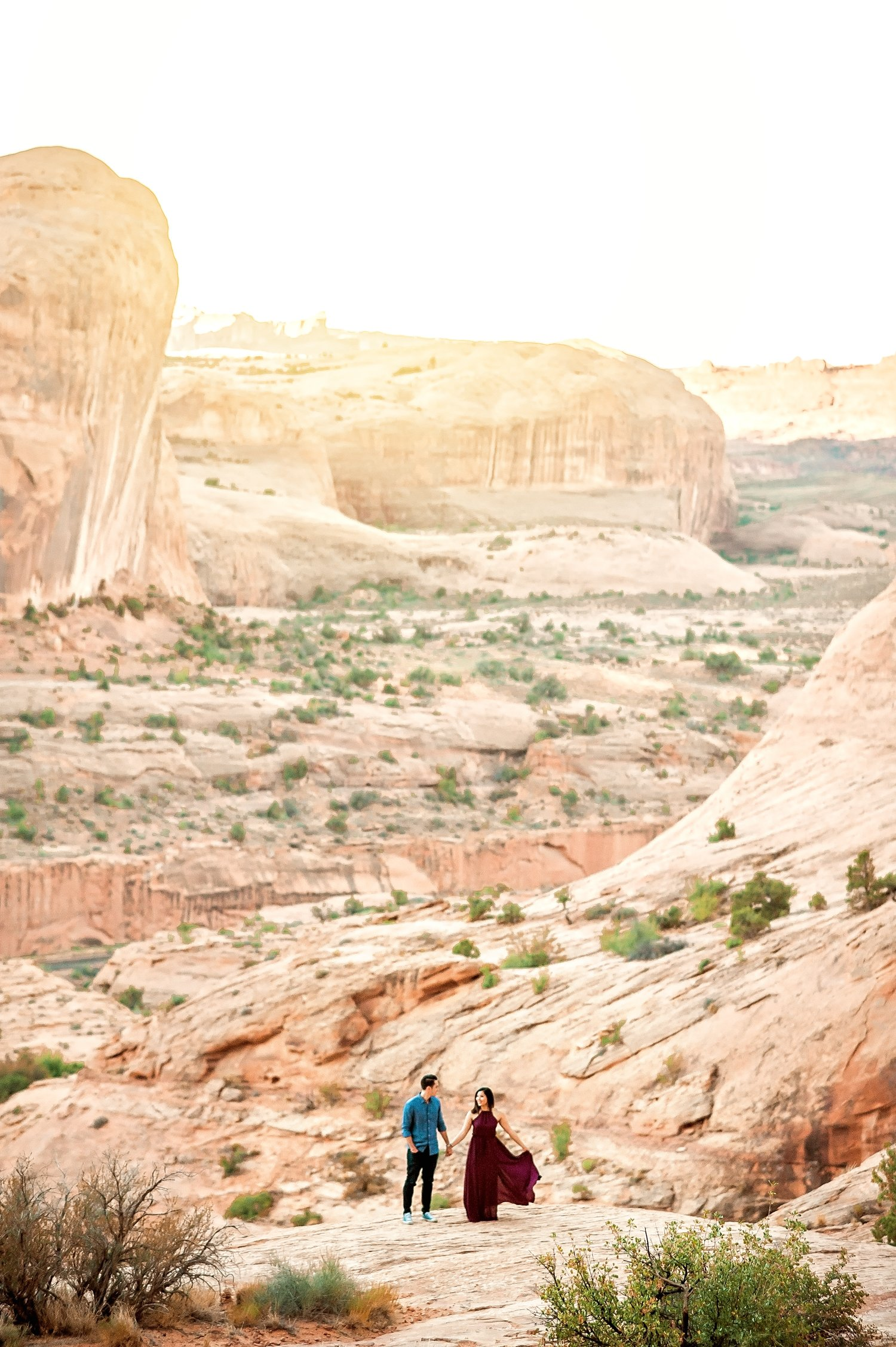 Arches National Park Adventure Engagement Session-34