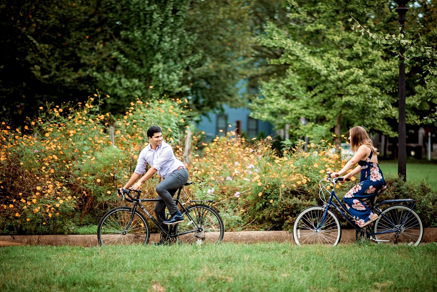 Petworth Biking Engagement Session Washington DC-24