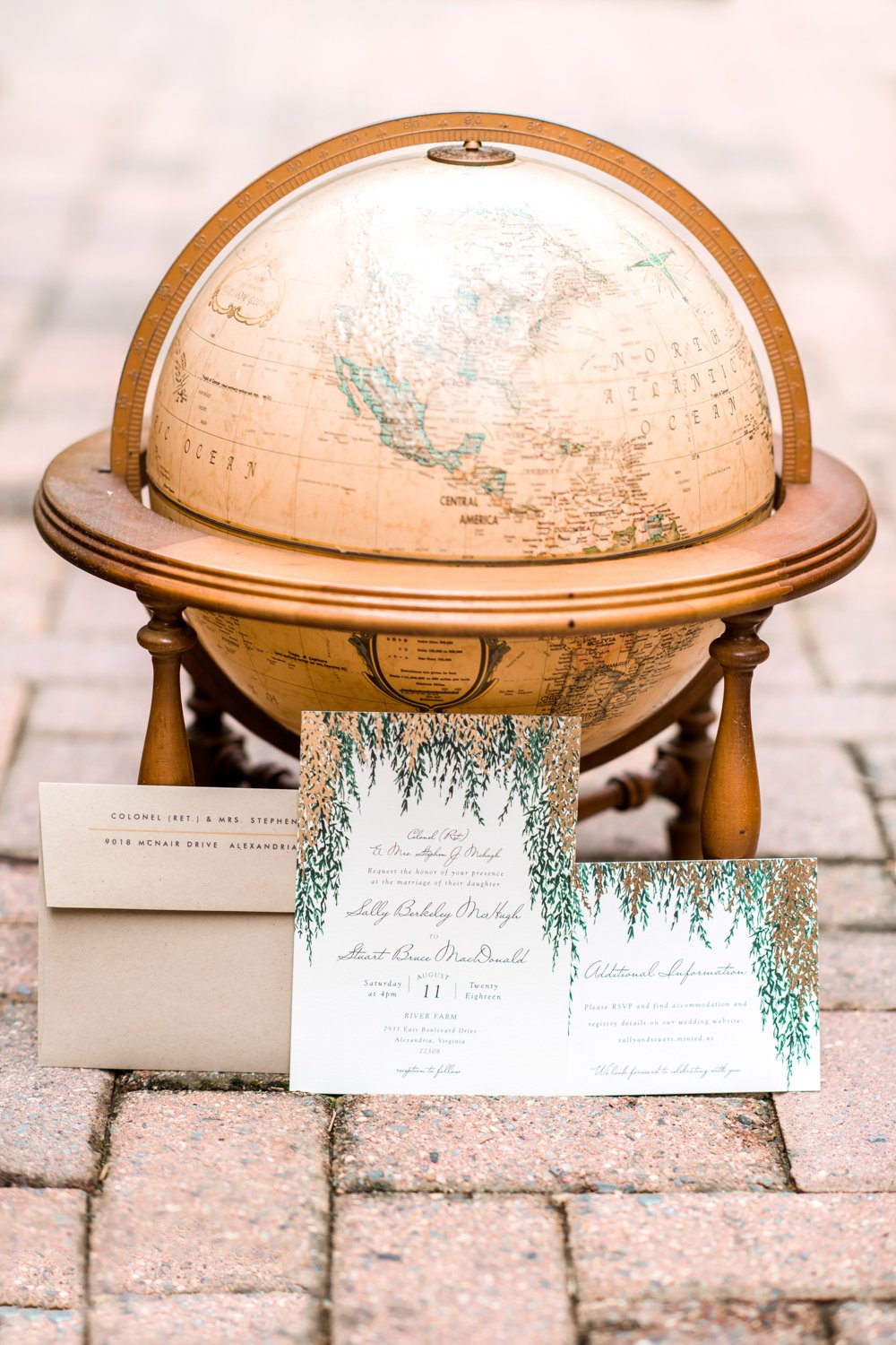 Travel Themed Wedding Virginia
