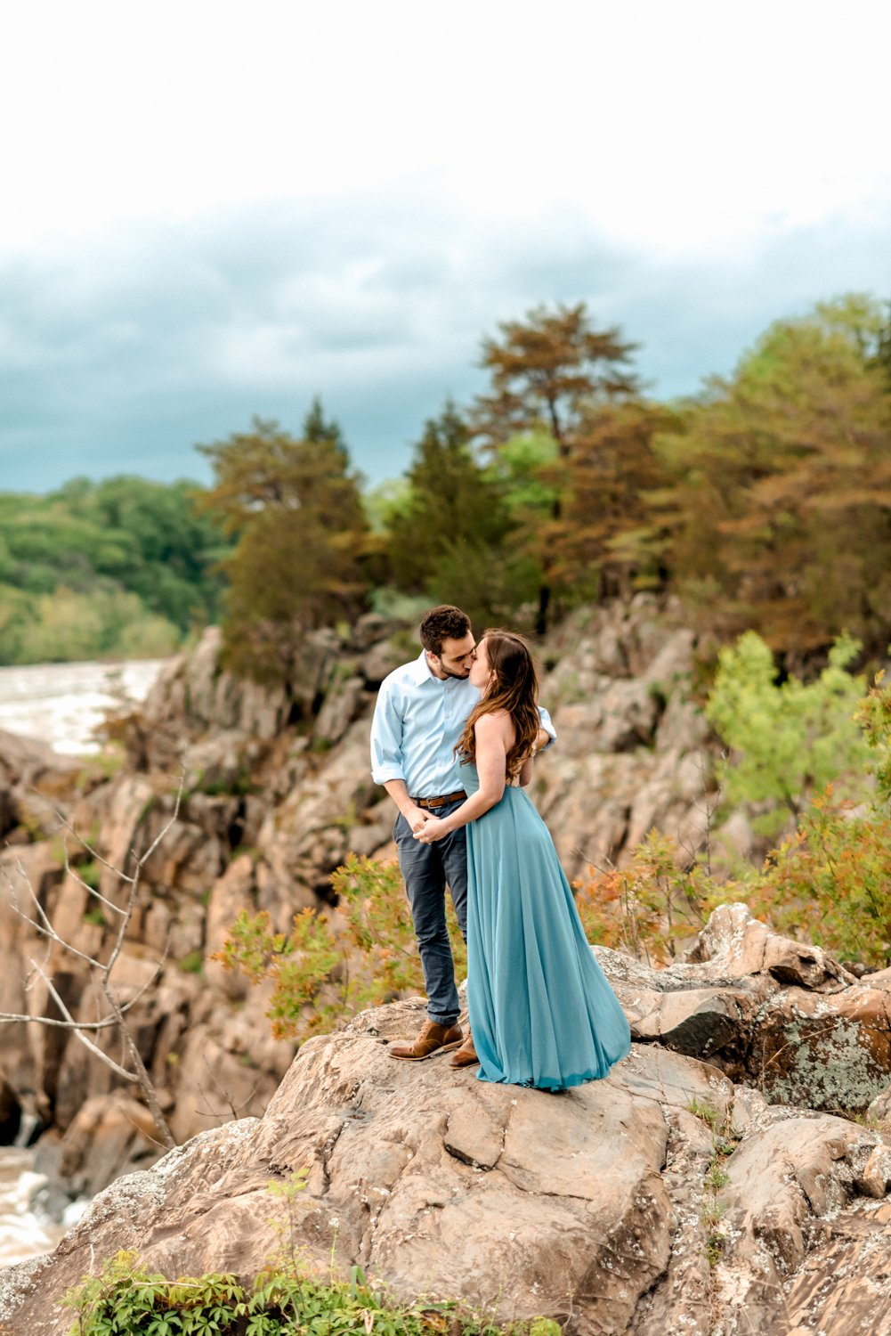 Great Falls Adventure Engagement Photographer