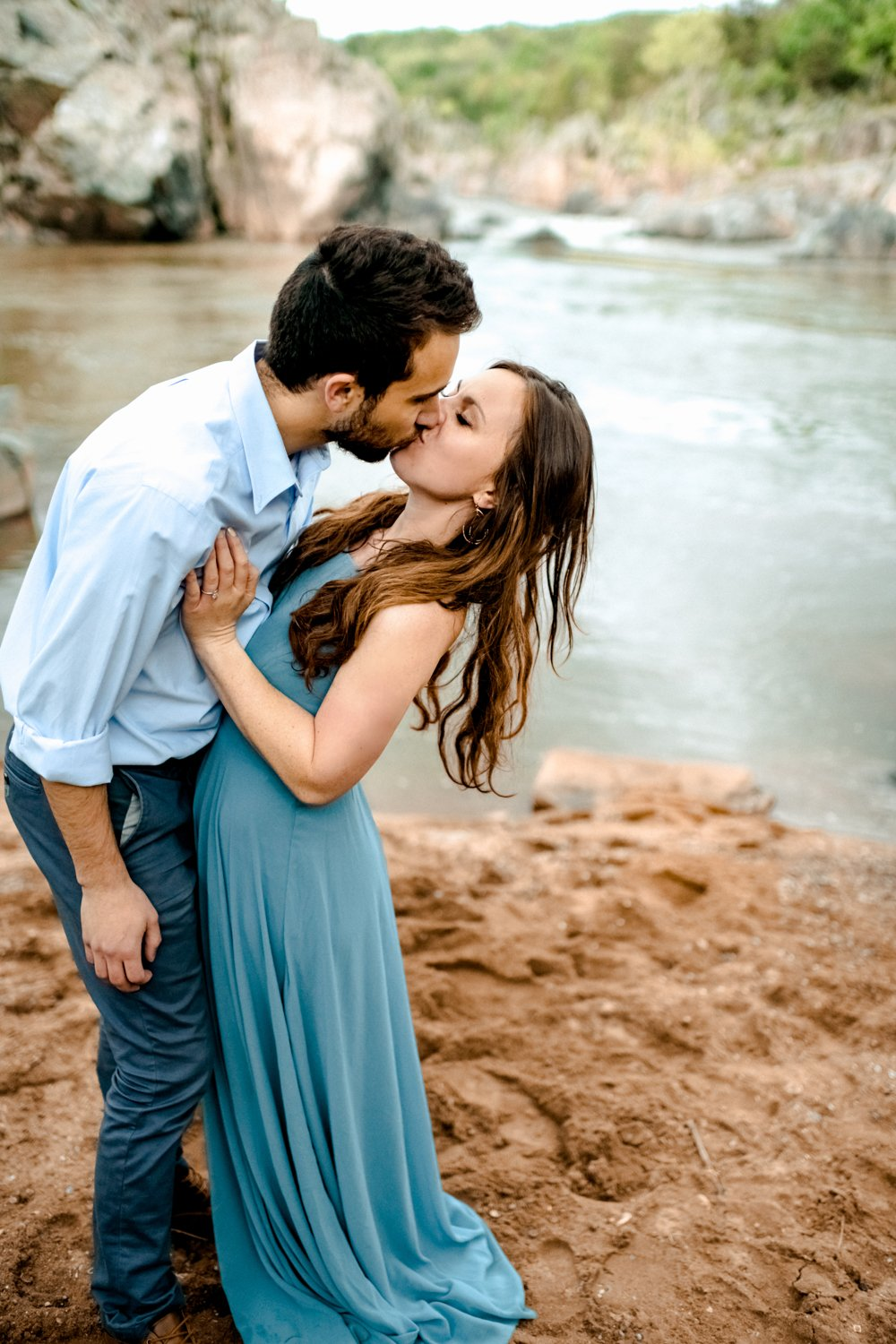 Great Falls Beach Adventure Engagement Session