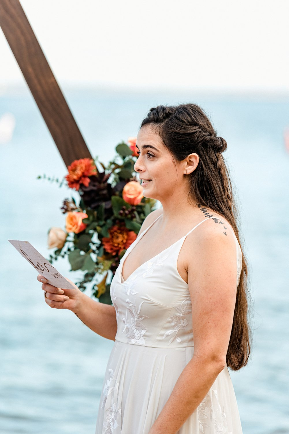 Maryland Beach Boho Elopement Photography Eastern Shore Vows