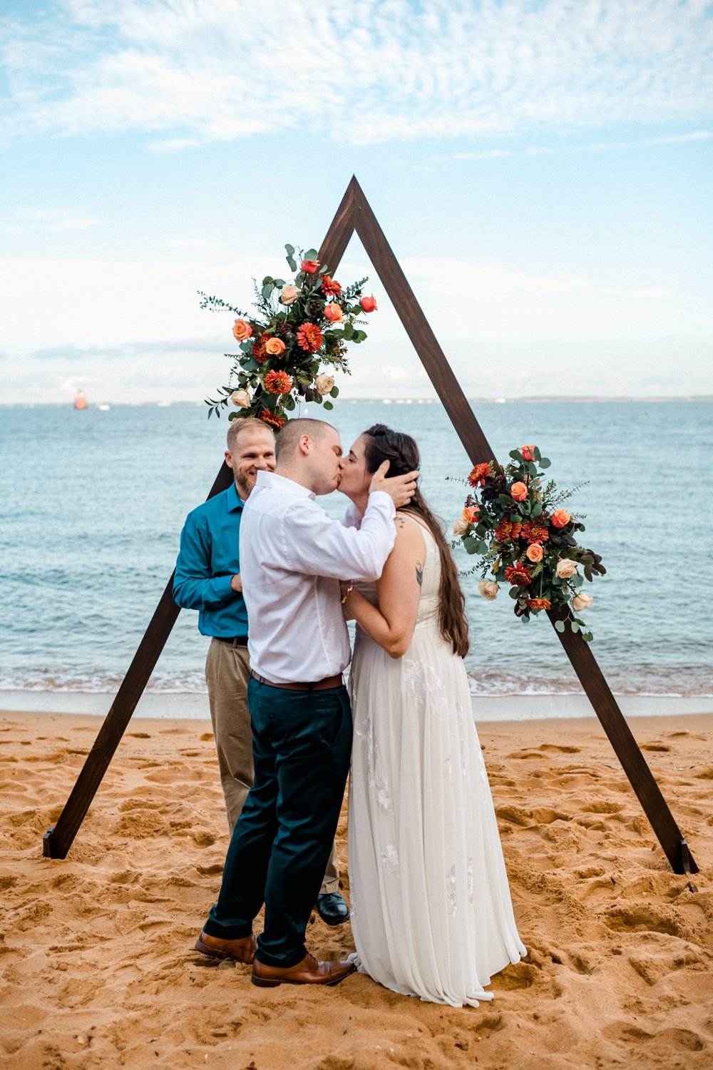 MD Beach Boho Elopement Ceremony